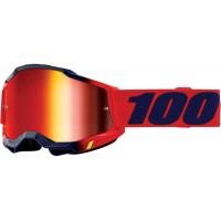 """Очила """"100%"""" Accuri 2 Kearny червена огледална плака"""