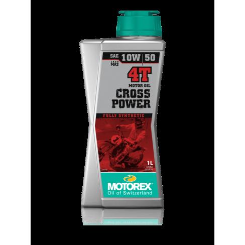 Двигателно масло MOTOREX CROSS POWER 10W50 пълна синтетика 4T 1L