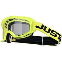 Мотокрос очила Just1 Vitro Yellow Fluo прозрачна плака