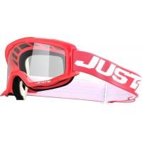 Мотокрос очила Just1 Vitro Red White прозрачна плака