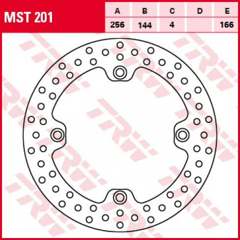 Преден спирачен диск TRW Lucas MST201