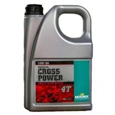 Двигателно масло MOTOREX CROSS POWER 10W50 пълна синтетика 4T 4L