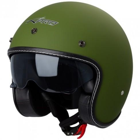 Каска за скутер A-PRO NATIVE MATT GREEN