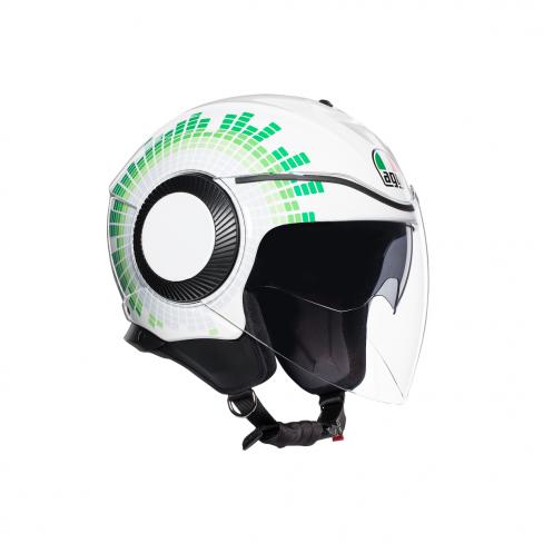 Каска за скутер AGV ORBYT E2205 MULTI - GINZA WHITE/ITALY